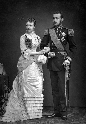 Rudolf, Crown Prince of Austria - Image: Stefanie en Rudolf