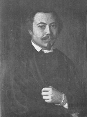 Steingrímur Thorsteinsson - A portrait of Steingrímur Thorsteinsson by Sigurður málari.
