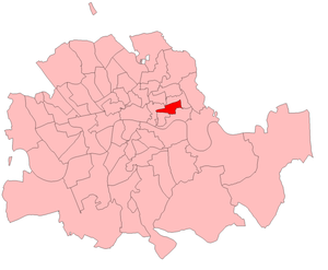 Stepney (UK Parliament constituency) - Stepney in the Metropolitan area, boundaries 1885-1918