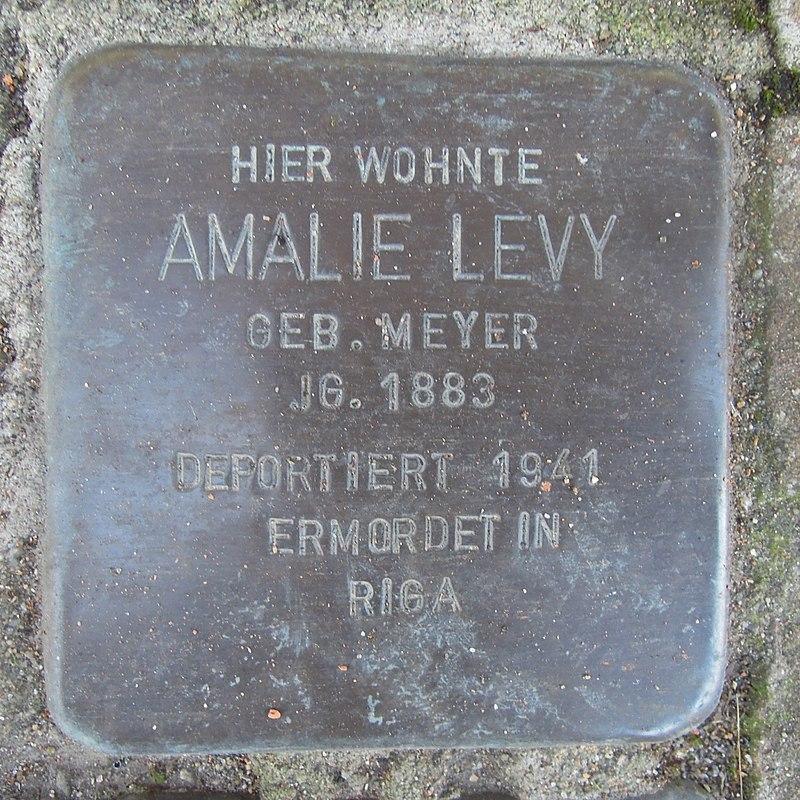 Stolperstein für Amalie Levygeb. Meyer