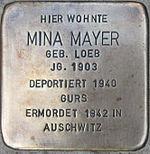 Stolperstein Böchingen Mayer Mina geb Loeb.jpeg