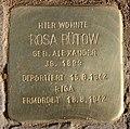 Stolperstein Caspar-Theyß-Str 26 (Schma) Rosa Bütow.jpg