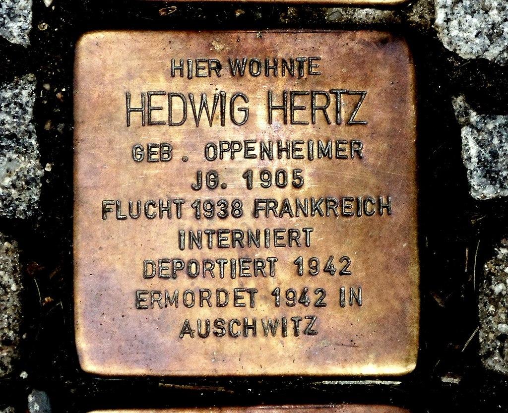 Stolperstein Hedwig Hertz, Guntersblum.JPG