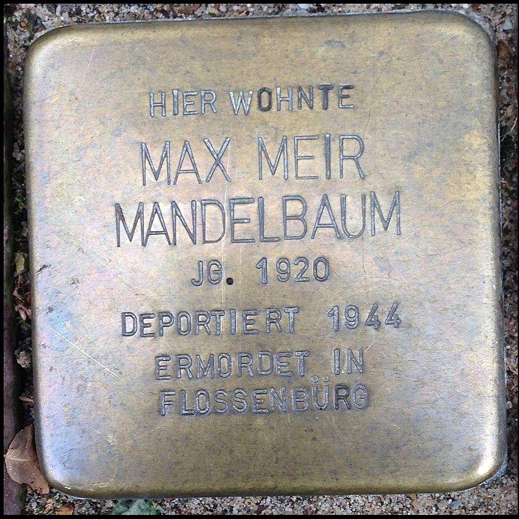 Stolperstein Kleve An der Münze 7-9 Max Meir Mandelbaum