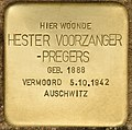 Stolperstein für Hester Voorzanger-Pregers (Den Haag).jpg