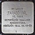 Stolperstein für Pal Farago (Nyíregyháza).jpg