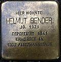 Stumbling block for Helmut Bender (Lungengasse 43)