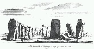 William Stukeley - An inward view of Stonehenge from August 1722
