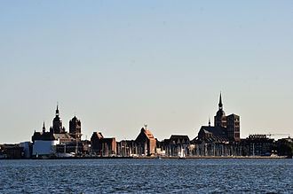 Western Pomerania - World Heritage Old Town of Stralsund at the Baltic Sea