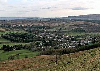 Strathblane Human settlement in Scotland