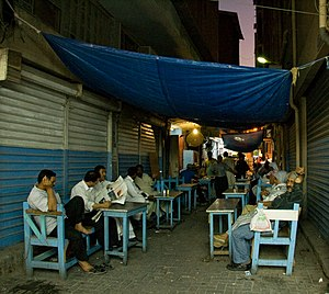 Street cafe in central Manama souq, Bahrain