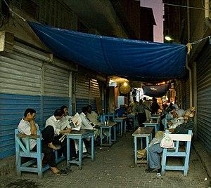 Street cafe in Manama souq, Bahrain