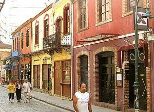Ladadika - Street in the Ladadika district
