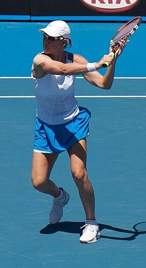 Rennae Stubbs - Image: Stubbs Australian Open 2009 1