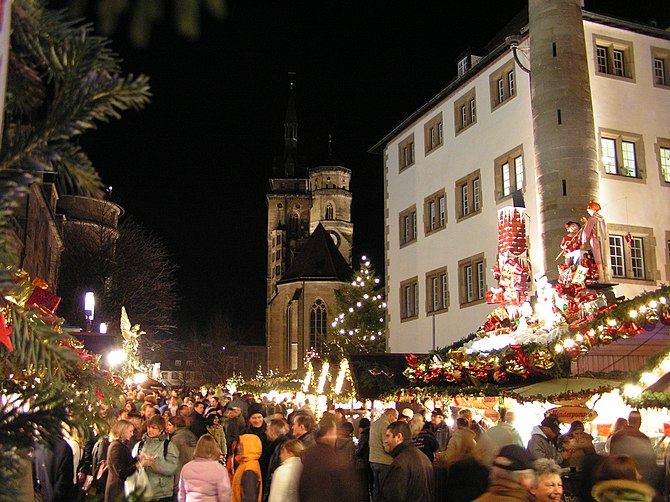 The Christmas Market in Stuttgart, Germany