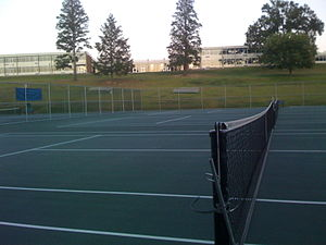 Suffern High School Tennis Courts With The Cam...