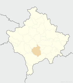 Location of the municipality of Suva Reka within Kosovo
