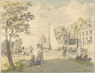 Summer Landscape with Pleasure Boats