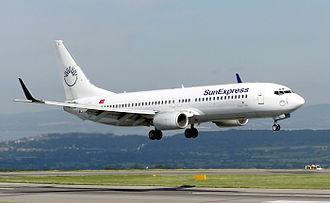 Ceiba Intercontinental Airlines Flight 71 - Image: Sunexpress.b 737 800.tc sul.bristol.arp