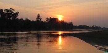 Sunset at Nagavali river.jpg