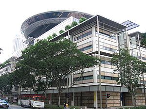 Judicial officers of the Republic of Singapore - The Supreme Court Building, designed by Foster and Partners, which commenced operations on 20 June 2005 – photographed in August 2006