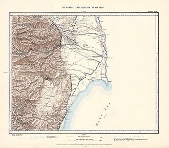 Ein Feshkha - Image: Survey of Western Palestine 1880.18