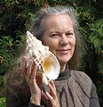 Susan Hewitt with gastropod shell Sept 2011.jpg
