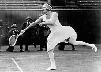 Suzanne Lenglen - Despite her flamboyant and sometimes controversial appearance on the court, Suzanne Lenglen was also known as a very graceful player.
