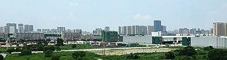 Duke Kunshan University - Panorama of the central business district of Kunshan, Jiangsu, China