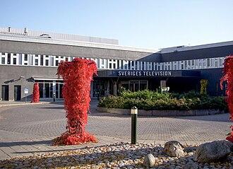 Sveriges Television - SVT headquarters in Stockholm