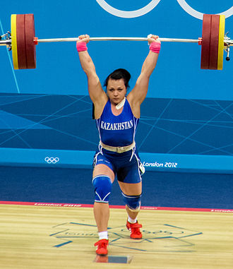 Olympic weightlifting - Olympic lifter Svetlana Podobedova at the 2012 Olympic Games in London