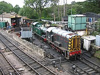 Swanage Railway loco-shed - geograph.org.uk - 1418582.jpg