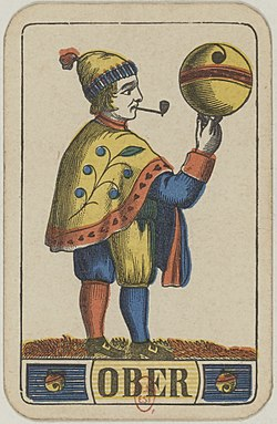 Swiss card deck - 1850 - Ober of Bells.jpg