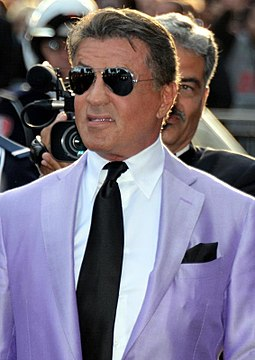 Stallone promoting The Expendables 3 at the 2014 Cannes Film Festival Sylvester Stallone Cannes 2014 2.jpg