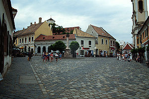 "Szentendre - Photo of Szentendre's ""Fő tér"" (Main Square)"
