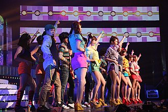 """T-ara - T-ara performing """"Roly-Poly"""" at the Cyworld Music Festival in 2011"""