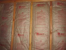 R value insulation wikipedia for Batt insulation r value