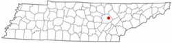 Location of Fairfield Glade, Tennessee