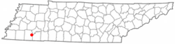 Location of Hornsby, Tennessee