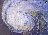 Satellite image of Hurricane Isabel