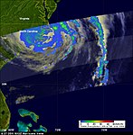 TRMM Satellite Measures Irene Over Cape Hatteras, N.C. The Tropical Rainfall Measuring (6086879752).jpg
