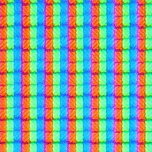 """Sharp Aquos - Close up of LCD pixels showing """"white"""" (taken from Sharp Aquos LC-32BV8E)"""