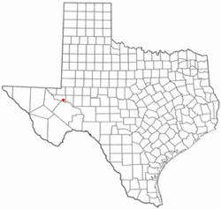Location of Grandfalls, Texas