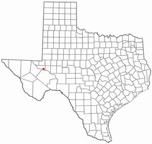 Grandfalls, Texas - Image: TX Map doton Grandfalls