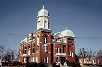 Taliaferro County Courthouse - 1973 view