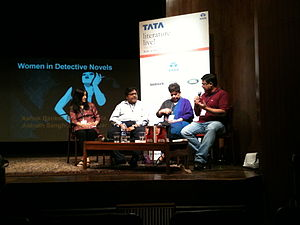 Ashok Banker - Banker (far right) at a panel discussion in November 2012