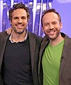 Teddy Wilson on the InnerSpace set with Mark Ruffalo.jpg