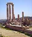 Temple of Hercules ruins with Amman cityscape in background, from Citadel Hill.jpg