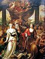 Th v d Schuer, De dubbele jurisdictie, schoorsteenstuk collegekamer Stadhuis v Maastricht.jpg