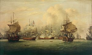 Fourth Anglo-Dutch War - The Battle of Dogger Bank by Thomas Luny